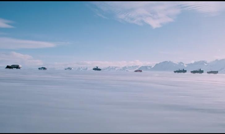 氷上をかけゲートに向かう
